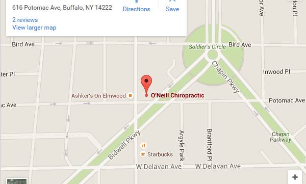 Location: O'Neill Chiropractic is located at: 616 Potomac Ave. Buffalo, NY 14222 Phone: (716) 884-4450 Email: oneillchiro@gmail.com